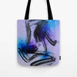 Japanese Style Abstract on Lavender Tote Bag