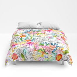 Tropical Botanical Sketchbook  Comforters