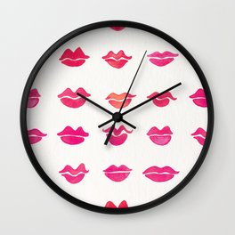 Kiss Collection – Pink Palette Wall Clock