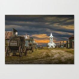 Western 1880 Town Canvas Print
