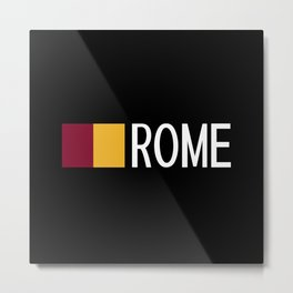 Italy: Roman Flag & Rome Metal Print