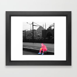 Waiting in Istanbul Framed Art Print