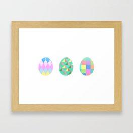 Egg Trio Framed Art Print