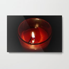 The Candle in the night Metal Print