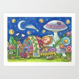 LADYBUG DREAMS - Brack Ladybird Bug Whimsy Art Print