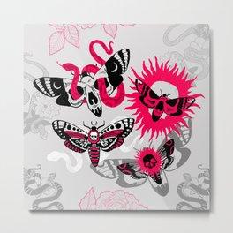 Red Moths Metal Print