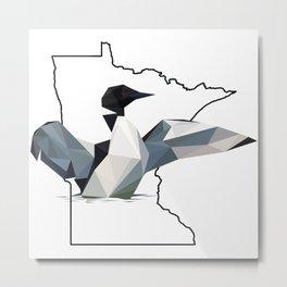 Minnesota – Common Loon Metal Print