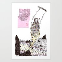 Girl Swinging Art Print