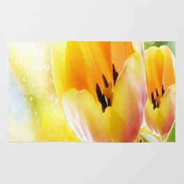 Yellow Tulips Rug