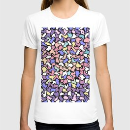 Wobbly Pastel Tone Tiles T-shirt
