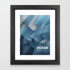 Ocean poster Framed Art Print