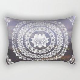 Lotus Mandala - Windermere Hills Landscape Rectangular Pillow