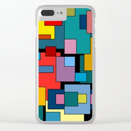 Color Blocks #4A Clear iPhone Case