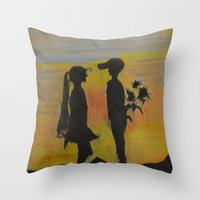 childish gambino Throw Pillows featuring Childish Love by Love Art Wonders by God Nickyart