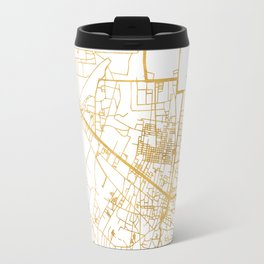 SIEM REAP CAMBODIA CITY STREET MAP ART Travel Mug