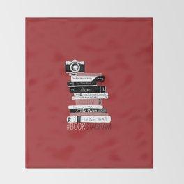 # BOOKSTAGRAM (Burgundy) Throw Blanket