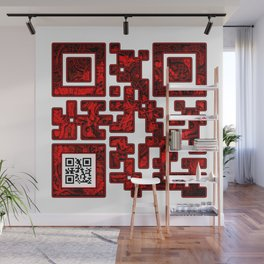 Love QR Code Wall Mural