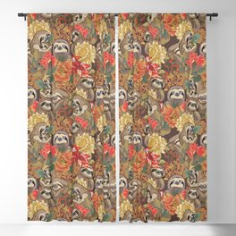 Because Sloths Autumn Blackout Curtain