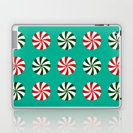 Striped Candy Mints in Christmas Colors Pattern Laptop & iPad Skin