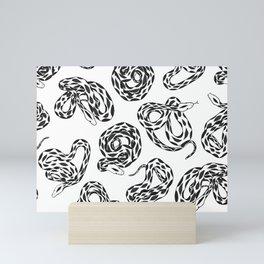 Black and White Snakes Mini Art Print