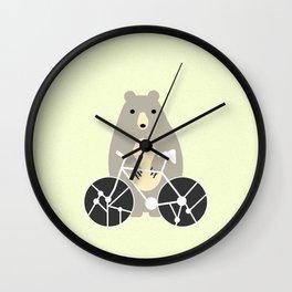 Bear with bike Wall Clock