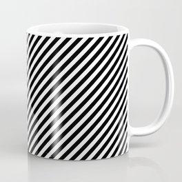 Back and White Lines Minimal Pattern Basic Coffee Mug