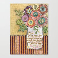 mom Canvas Prints featuring Mom by Jamie Morath Art