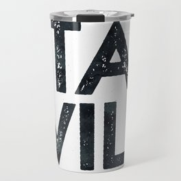 STAY WILD Vintage Black and White Travel Mug