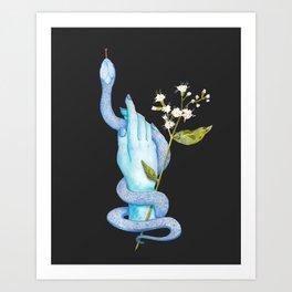 White Snake Flower Art Print