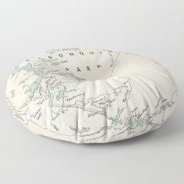 1954 Algonquin Park Ontario Vintage Map Floor Pillow