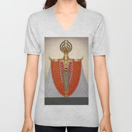 "Art Deco Design ""Indochina Costume"" Unisex V-Neck"