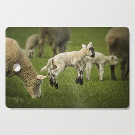 A Lamb with a Spring in Its Step Cutting Board