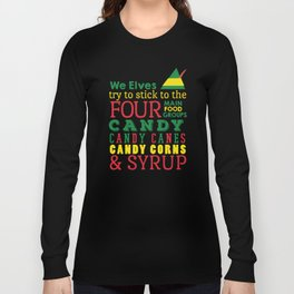 Elves food Groups - Elf the movie Long Sleeve T-shirt