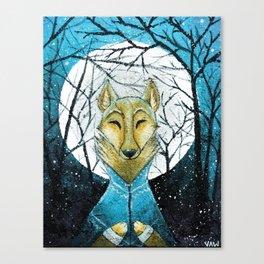 Lobo de Luna Canvas Print
