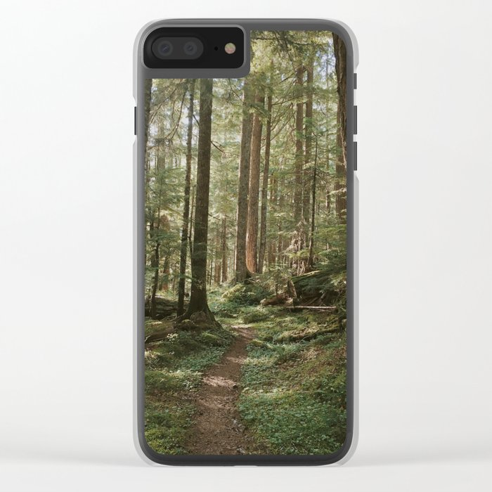 Wonderland Forest Trail Clear iPhone Case