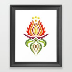 Fancy Mantle on White Framed Art Print