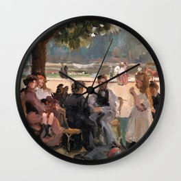 In The Bois De Boulogne Near Paris - Digital Remastered Edition Wall Clock