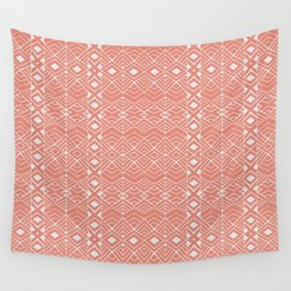 Aztec Coral Wall Tapestry