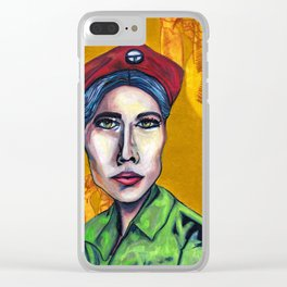 Lulu (Young Lords Party Series) Clear iPhone Case