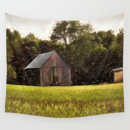 Old Barn in country Wall Tapestry