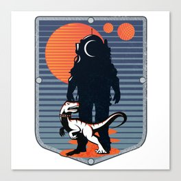 The Astronaut's Pet Canvas Print