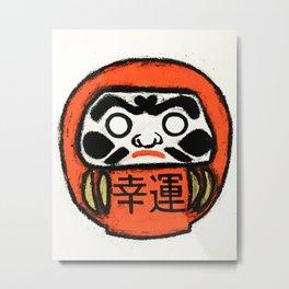Japanese Daruma Metal Print