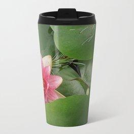 Lotus Flowe_pink1 Metal Travel Mug
