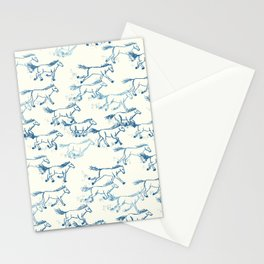 Wild and Free - Teal and Cream Stationery Cards