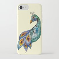 peacock iPhone & iPod Cases featuring Peacock by SilviaGancheva