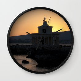 Kefalonia Lighthouse Lassi Greece Wall Clock