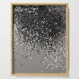 Silver Gray Glitter #1 #shiny #decor #art #society6 Serving Tray