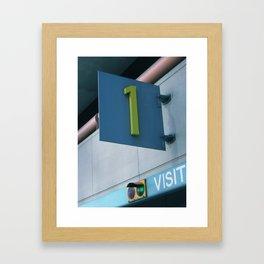 One Visit Framed Art Print