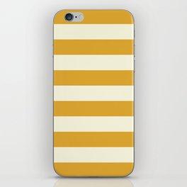Yellow Stripes Bold iPhone Skin