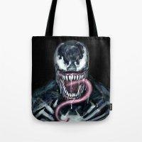 venom Tote Bags featuring Venom by dariiy
